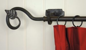 From The Anvil Hand Forged Beeswaxed Curtain Poles