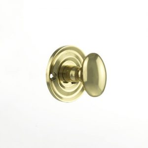 Old English Solid Brass Oval WC Turn and Release