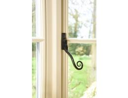 From the Anvil Monkey Tail Espagnolette Black Window Fastener Large