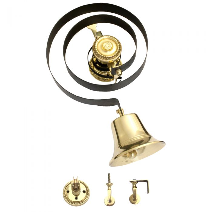 Butlers Doorbell Polished Brass without Pull BH1004PB