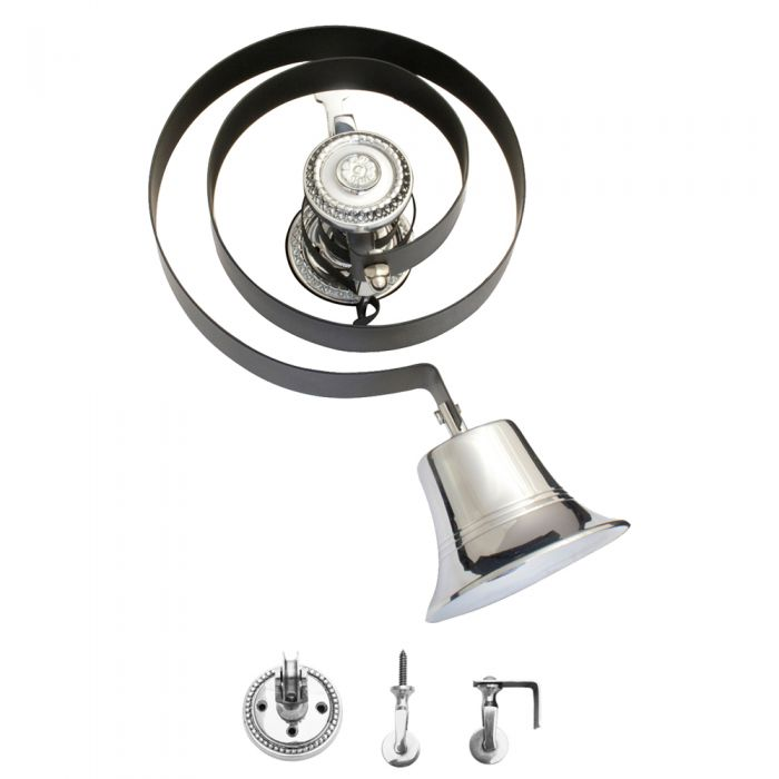 Butlers Doorbell Polished Chrome without Pull BH1004BC